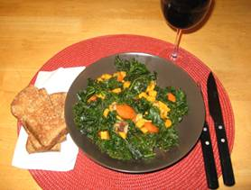 Easy Esselstyn Diet Recipes With Pictures Kale And Carrots With Shiitake Mushrooms